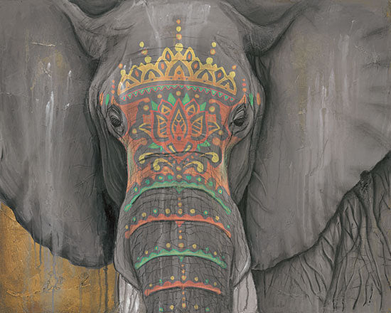 Britt Hallowell BHAR461 - Tattooed Elephant     - Elephant, Tattoo, India from Penny Lane Publishing