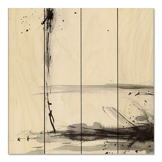 Britt Hallowell BHAR480PAL - Simplification Series V Abstract, Black, Purple from Penny Lane
