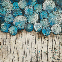 BHAR493 - Bubble Trees in Blue - 12x12
