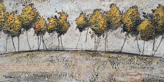 Britt Hallowell BHAR494 - BHAR494 - A Route of Gold - 18x9 Abstract, Trees, Modern from Penny Lane