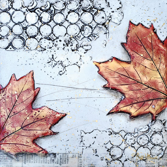 Brit Hallowell BHAR512 - BHAR512 - Channeling Fall 3 - 12x12 Fall, Fall Leaf from Penny Lane