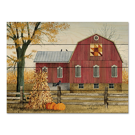 Billy Jacobs BJ1023PAL - Autumn Leaf Quilt Block Barn  Barn, Farm, Cornstalks, Pumpkins, Homestead, Quilt Pattern from Penny Lane