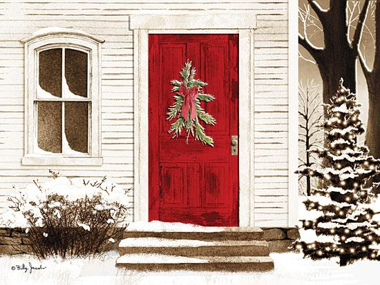 Billy Jacobs BJ1025 - Red Door - Front Door, Porch, Snow, Winter, Holiday from Penny Lane Publishing