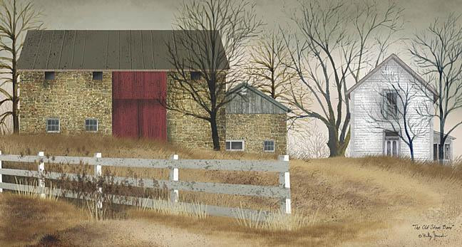 Billy Jacobs BJ103F - Old Stone Barn - Barn, Stone, Fence, Farm from Penny Lane Publishing