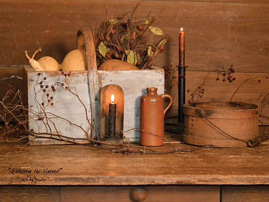 Billy Jacobs BJ1063 - Gathering the Harvest - Candles, Pumpkins, Gourds, Berries, Still Life from Penny Lane Publishing