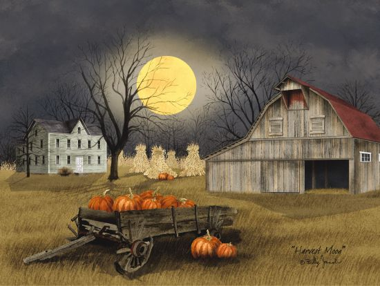 Billy Jacobs BJ1094 - Harvest Moon Harvest Moon, Farm, Barn, Wagon, Pumpkins, Hay Stacks from Penny Lane