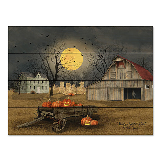 Billy Jacobs BJ1097PAL - Spooky Harvest Moon Harvest Moon, Barn, Bats, Jack O'lanterns, Pumpkins, Wagon from Penny Lane