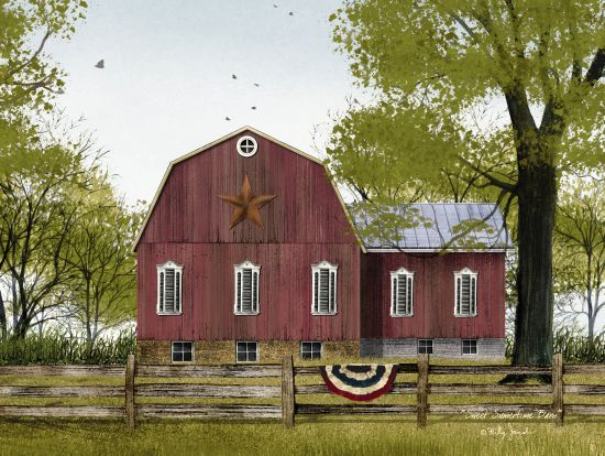 Billy Jacobs BJ1118 - Sweet Summertime Barn Red Barn, Americana, Barn Star, Farm, Fence from Penny Lane