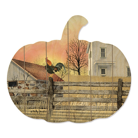 Billy Jacobs BJ1138PUMP - Early Riser Rooster, Barn, Homestead, Fence, Sunrise, Sun, Field, Harvest from Penny Lane