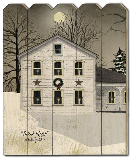 Billy Jacobs BJ1168PF - Silent Night - House, Snow, Christmas Tree, Barn Stars, Holiday from Penny Lane Publishing