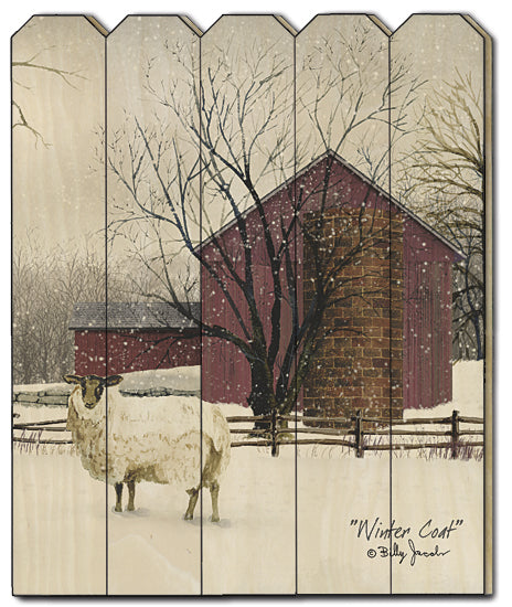 Billy Jacobs BJ1169PF - Winter Coat - Sheep, Barn, Snow, Farm from Penny Lane Publishing