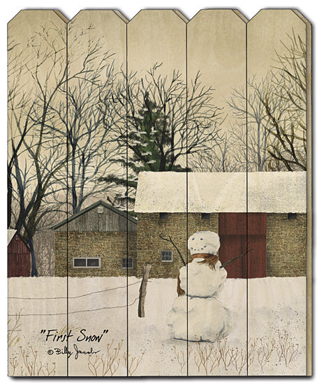 Billy Jacobs BJ1171PF - First Snow - Snowman, Snow, Farm from Penny Lane Publishing