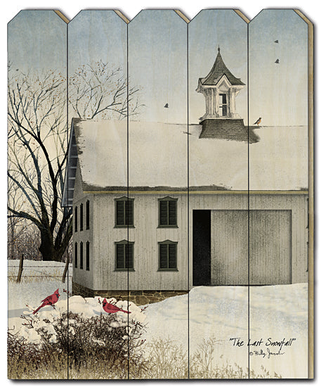 Billy Jacobs BJ1173PF - The Last Snowfall - Church, Snow, Birds, Cardinals from Penny Lane Publishing