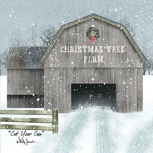 Billy Jacobs BJ1178 - Cut Your Own - Barn, Wreath, Christmas Tree Farm, Snow, Winter from Penny Lane Publishing