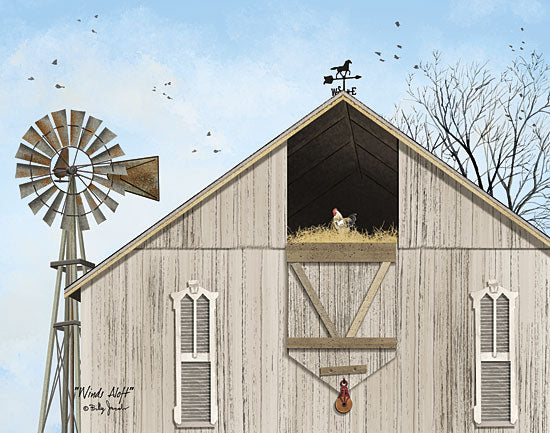 Billy Jacobs BJ1180A - Winds Aloft - Barn, Windmill, Farm, Hayloft from Penny Lane Publishing