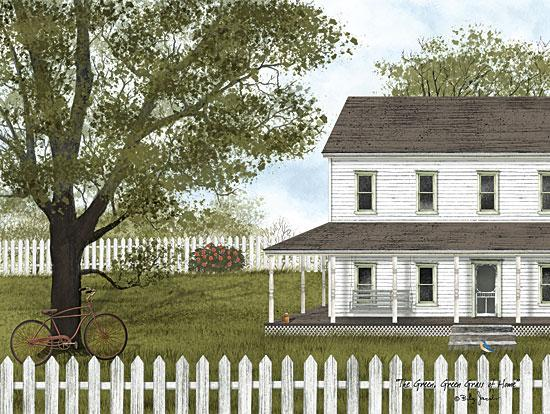 Billy Jacobs BJ1185 - Green, Green Grass of Home Home, House, Homestead, Fence, Tree from Penny Lane