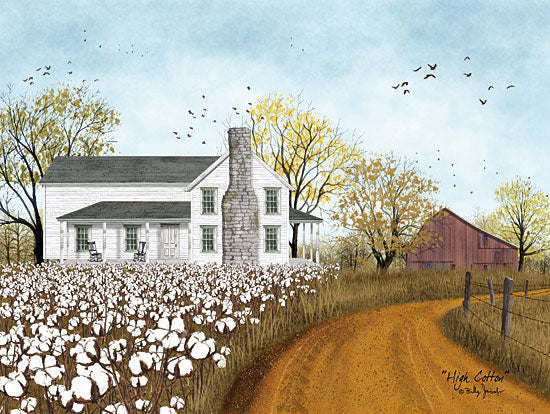 Billy Jacobs BJ1200 - High Cotton - 16x12 Farm, Cotton Field, House, Barn, Road from Penny Lane