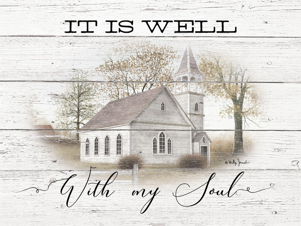 Billy Jacobs BJ1222 - BJ1222 - It is Well - 16x12 It is Well With My Soul, Church, Country, Americana from Penny Lane