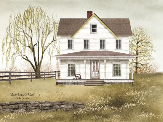 Billy Jacobs BJ122 - Aunt Emma's Place White House, Tree, Weeping Willow, Front Porch, Americana from Penny Lane