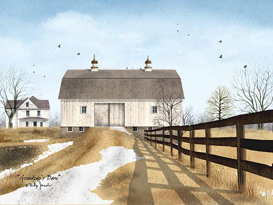 Billy Jacobs BJ128 - Grandpa's Barn - Barn, Fence, Farm, Snow, Winter from Penny Lane Publishing