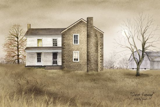 Billy Jacobs BJ129 - Quiet Evening Stone House, Front Porch, Barn, Farm, Moon, Americana from Penny Lane