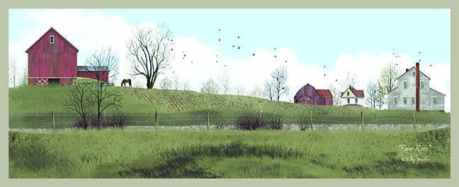Billy Jacobs BJ137A - Rural Route - Farm, Barn, House, Field from Penny Lane Publishing