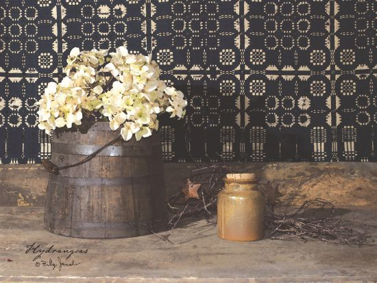 Billy Jacobs BJ178 - Hydrangeas Hydrangeas, Bucket, Crock, Flowers, Rusty Star from Penny Lane