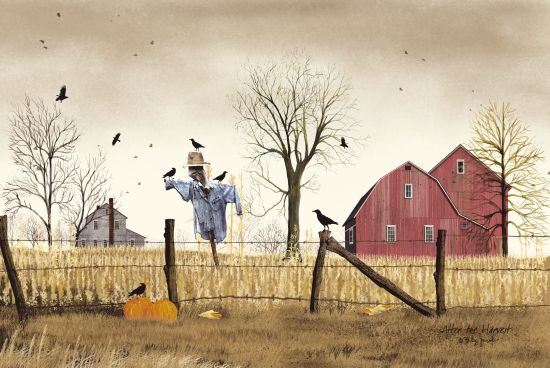 Billy Jacobs BJ184 - After the Harvest Farm, Barn, Scarecrow, Pumpkins, Corn Stalks, Crows from Penny Lane