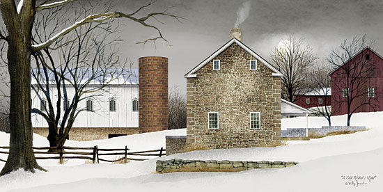 Billy Jacobs BJ190 - A Cold Winter's Night - Farm, Stone House, Snow, Winter from Penny Lane Publishing