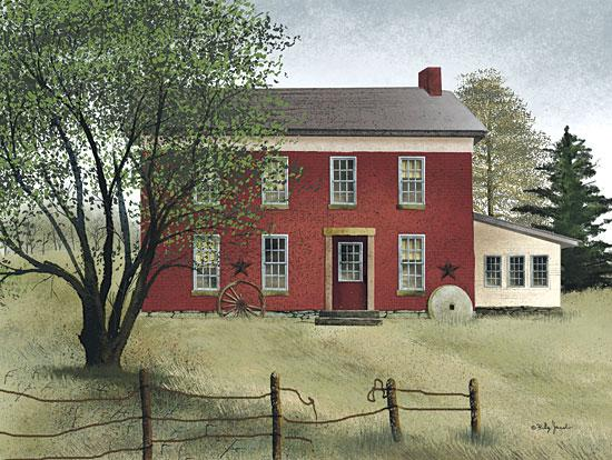 Billy Jacobs BJ221 - Brick Farmhouse - Farmhouse, House, Fence, Stone, Landscape from Penny Lane Publishing