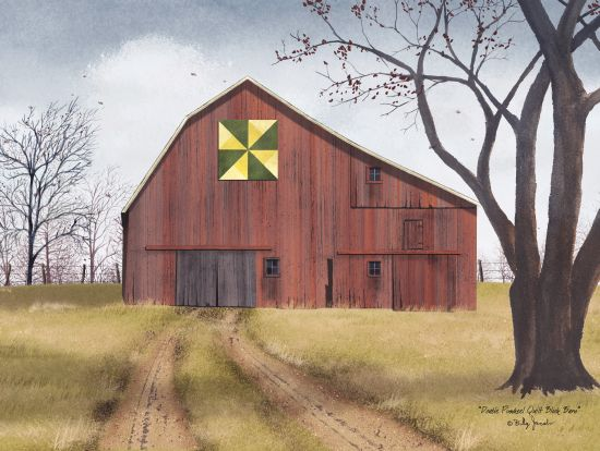Billy Jacobs BJ461 - Double Pinwheel Quilt Barn, Path, Trees, Farm, Quilt, Double Pinwheel Quilt Block from Penny Lane