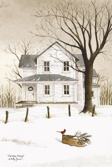 Billy Jacobs BJ463 - Christmas Morning Holidays, White House, Front Porch, Winter, Cardinal from Penny Lane