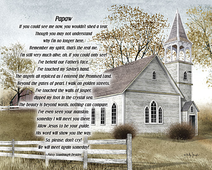 Billy Jacobs BJXD843 - Papaw - If You Could See Me Now - Church, Memorial, In Memory, Papaw, Grandpa from Penny Lane Publishing
