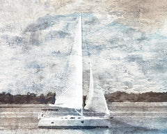 BLUE380 - Sailboat on Water - 16x12
