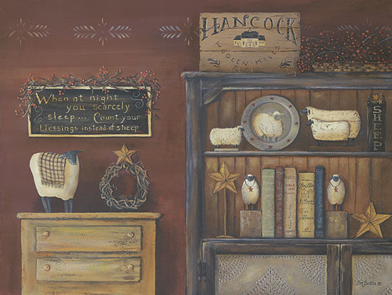 Pam Britton BR153 - Count Your Blessings - Blessings, Barn Star, Sheep, Signs, Antiques, Wreath, Sign from Penny Lane Publishing