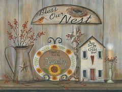 BR455 - Bless Our Nest Country Shelf - 16x12