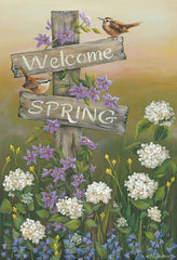 BR468 - Welcome Spring - 12x18