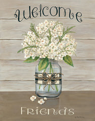 BR470 - Welcome Friends Mason Jar - 12x16
