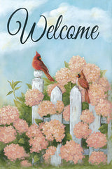 BR471 - Cardinal Pair Welcome - 12x16