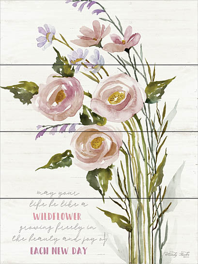 Cindy Jacobs CIN1008 - Each New Day - Roses, Wildflowers, Wood Planks from Penny Lane Publishing