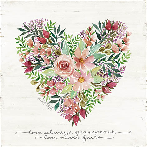 Cindy Jacobs CIN1010 - Love Never Fails Flower Heart - Love, Heart, Flowers from Penny Lane Publishing