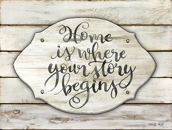 Cindy Jacobs CIN1040 - Home is Where Your Story Begins - Home, Story Begins, Plaque, Shiplap, Wood Planks from Penny Lane Publishing
