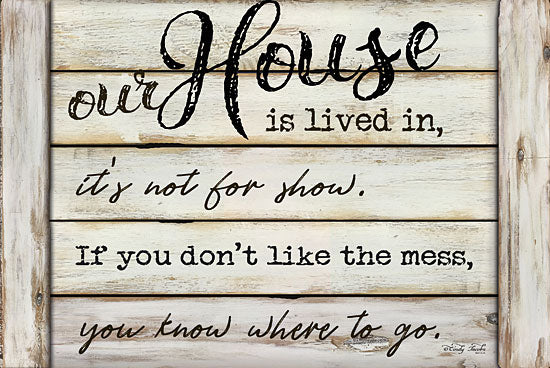 Cindy Jacobs CIN1046 - Our House is Lived In - Our House, Humor, Shiplap, Wood Planks from Penny Lane Publishing