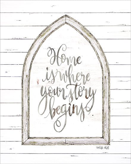 Cindy Jacobs CIN1048 - Home is Where Your Story Begins     - Arch, Window, Home, Story Begins, Shiplap, Wood Planks from Penny Lane Publishing