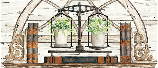 Cindy Jacobs CIN1074 - Balance of Beauty Scale, House Plants, Books, Arches, Neutral, Antiques from Penny Lane