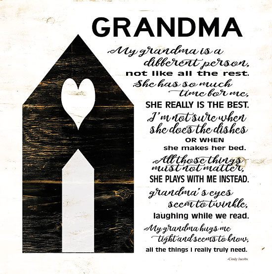 Cindy Jacobs CIN1079 - My Grandma is the Best Grandma, Grandparent, Block House, Heart, Poem from Penny Lane
