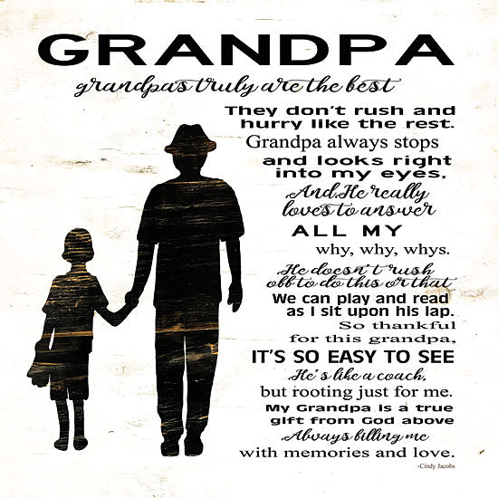 Cindy Jacobs CIN1080 - My Grandpa is the Best Grandpa, Grandparent, Block House, Heart, Poem from Penny Lane