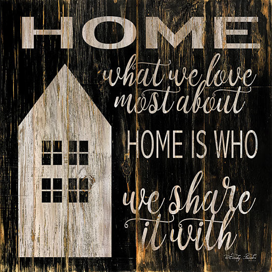 Cindy Jacobs CIN1083 - Home is Who We Share It With Home, Block House, Family, Signs from Penny Lane
