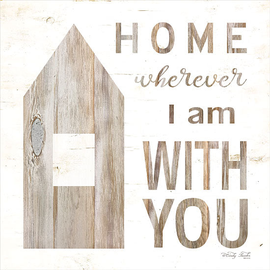 Cindy Jacobs CIN1087 - Home - Wherever I Am with You   Home, Love, Family, Block House, Neutral Colors from Penny Lane
