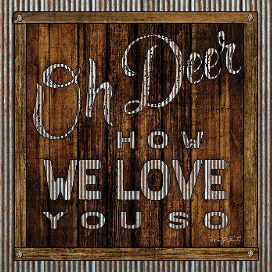 Cindy Jacobs CIN1122 - Oh Deer Galvanized Metal, Love, Signs, Wood Planks from Penny Lane